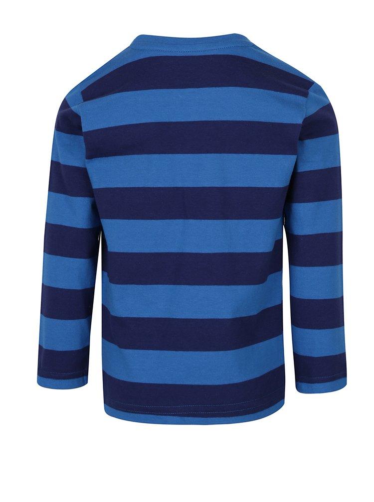 Modré klučičí pruhované triko s potiskem 5.10.15.