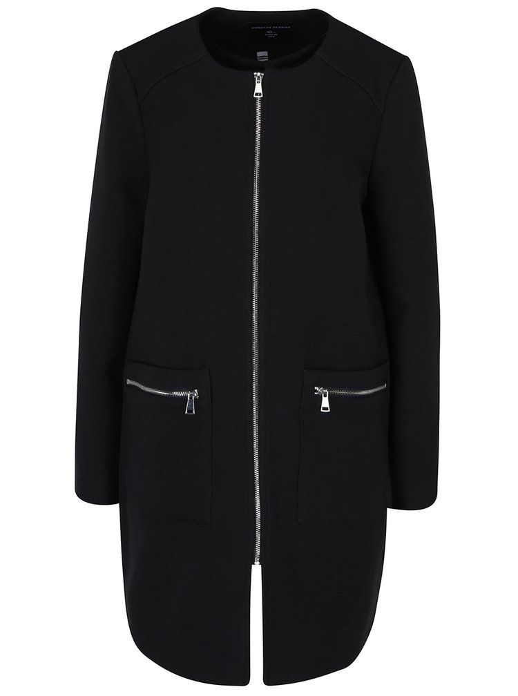 Černý lehký kabát na zip Dorothy Perkins