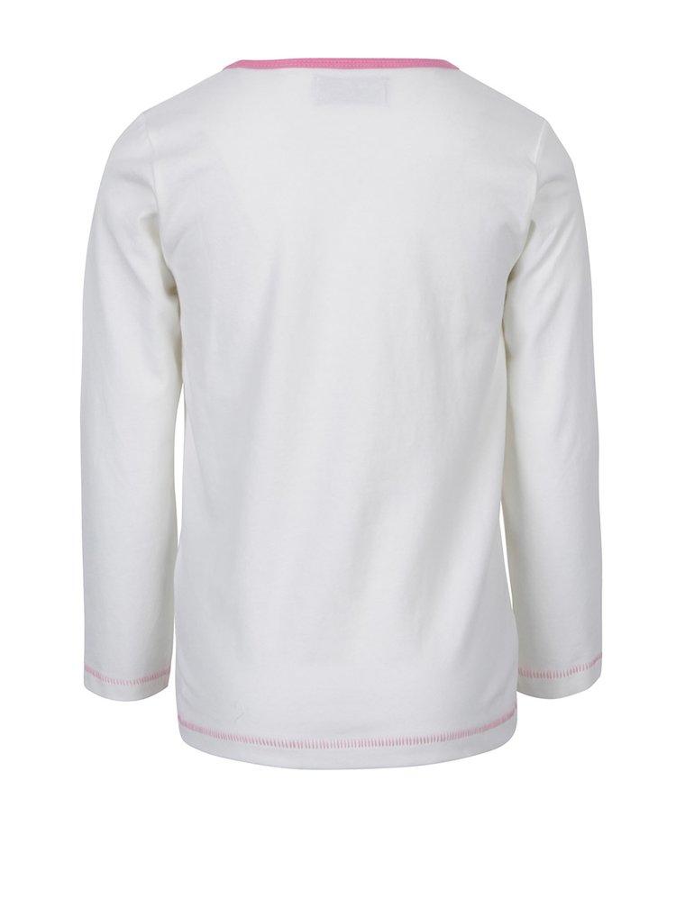 Krémové holčičí tričko s dlouhým rukávem a potiskem 5.10.15.