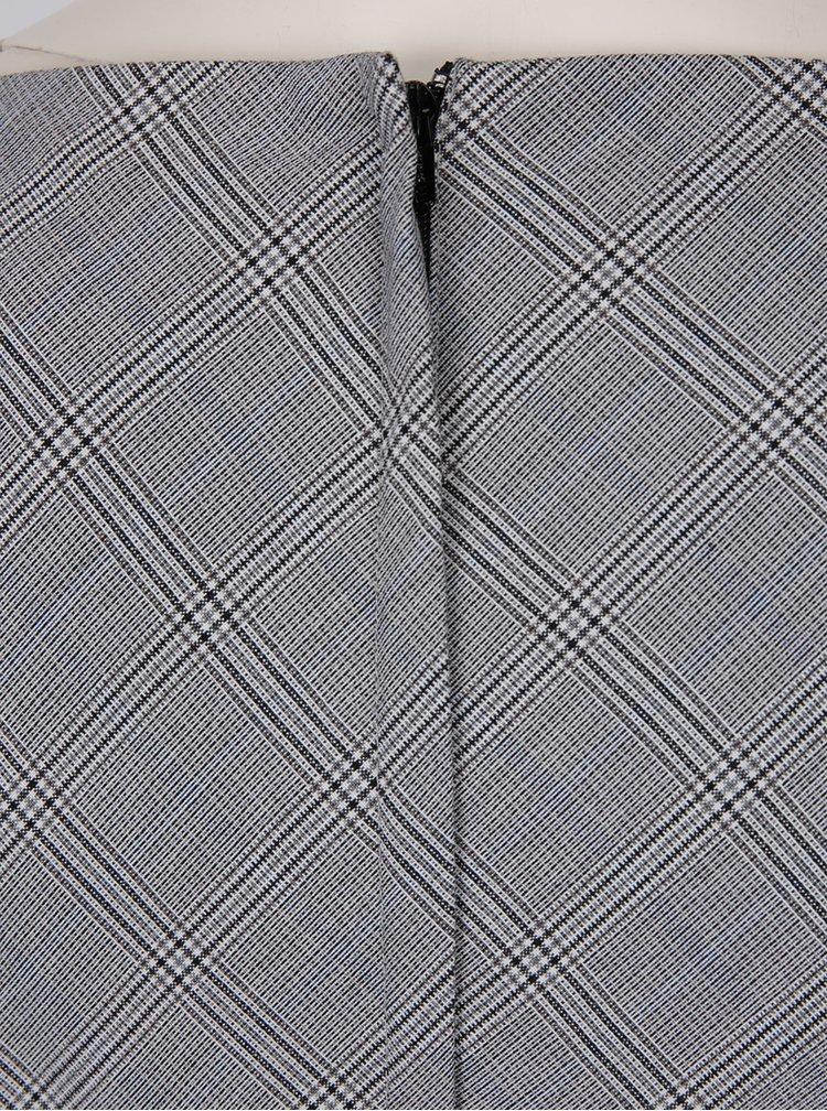 Šedé vzorované pouzdrové šaty s páskem Dorothy Perkins