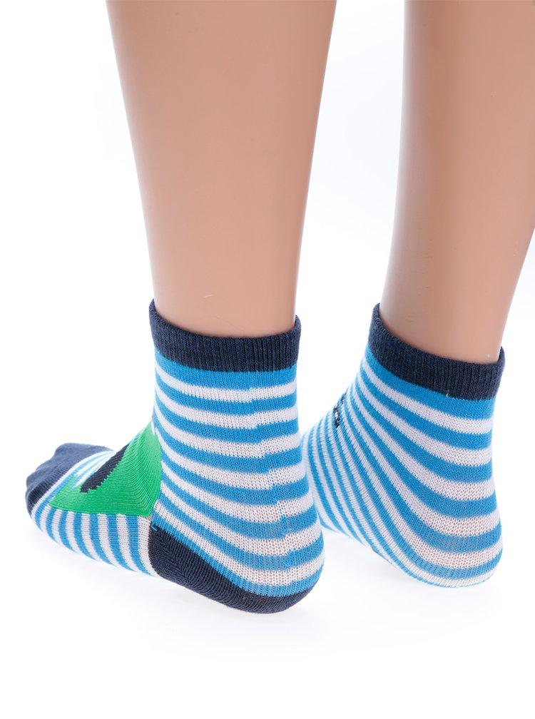 Sada tří párů zeleno-modrých klučičích ponožek s motivem krokodýla 5.10.15.