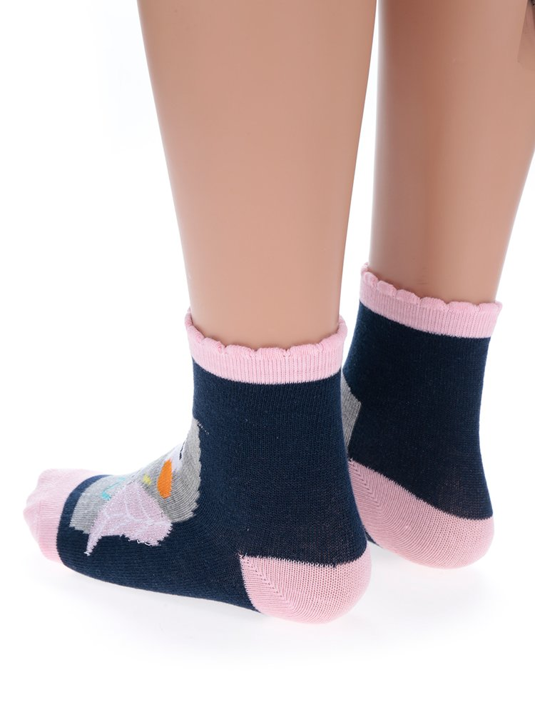 Sada tří párů modro-růžových holčičích ponožek s motivem sovy 5.10.15.