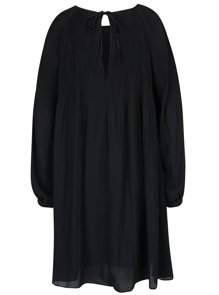 Rochie neagră cu pliseuri - VERO MODA View