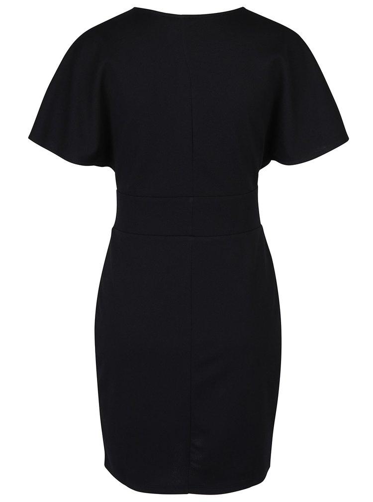 Černé šaty se šněrováním v pase Miss Selfridge