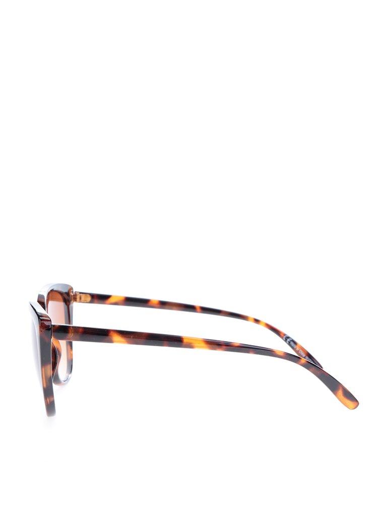Hnědé vzorované sluneční brýle Dorothy Perkins