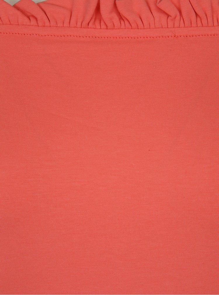 Bluză roșu corai cu decolteu pe umeri Dorothy Perkins