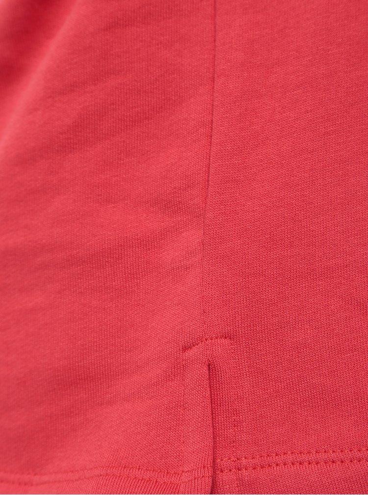 Červená holčičí mikina s potiskem