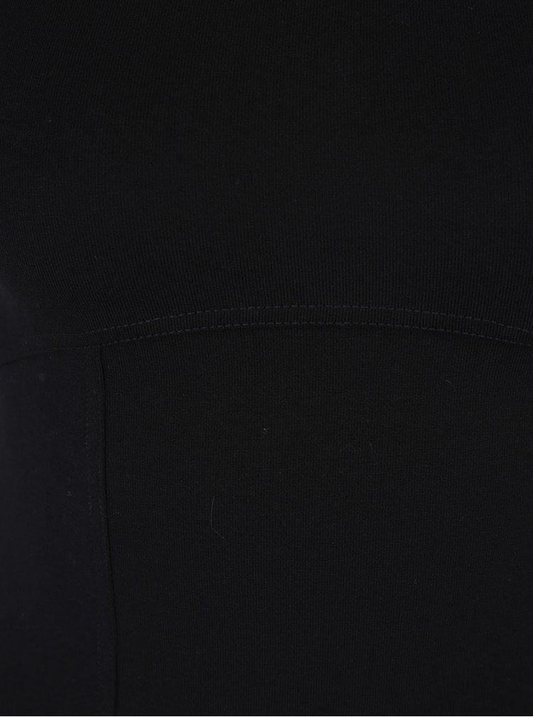 Bluza crop neagra cu decolteu amplu -  Miss Selfridge