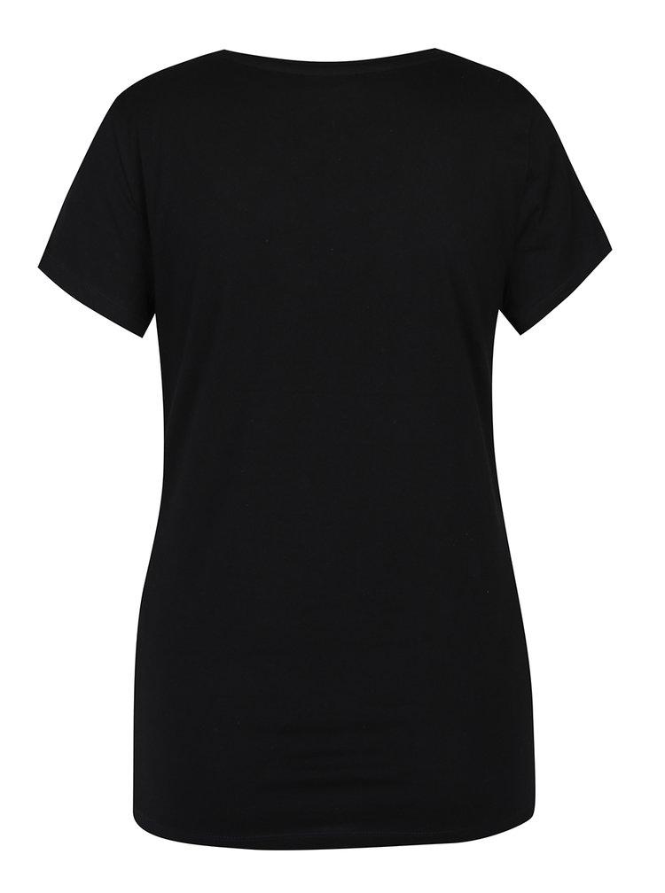Tricou negru cu print text - Noisy May Axel