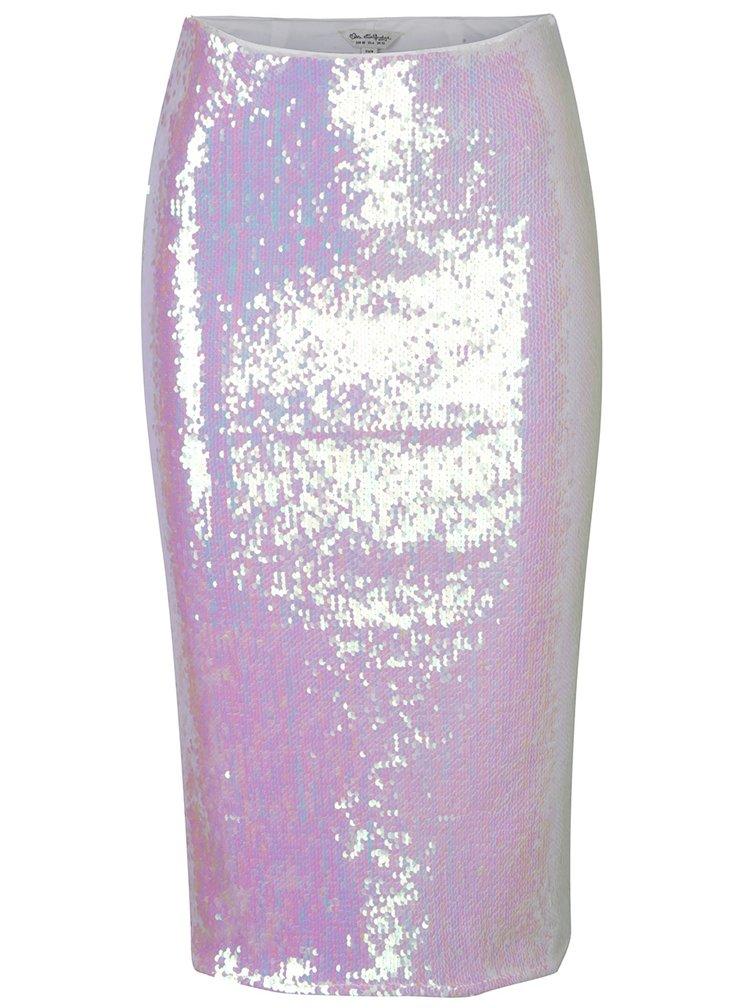 Světle růžová sukně s flitry Miss Selfridge