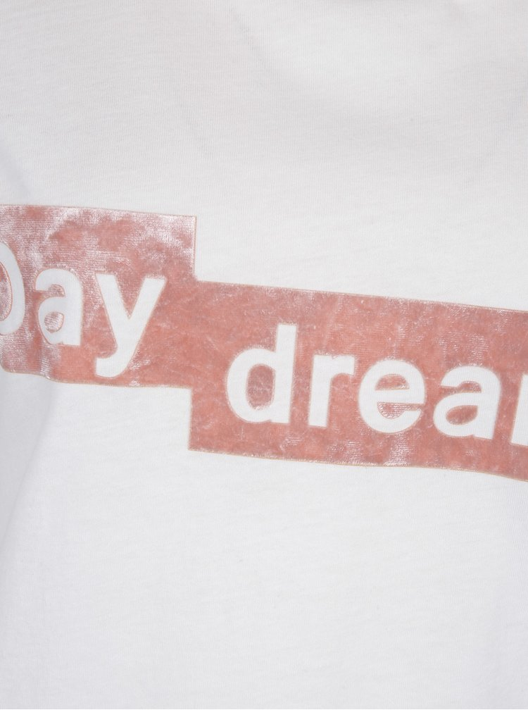 Krémové tričko se sametovým detailem VERO MODA Aiyo