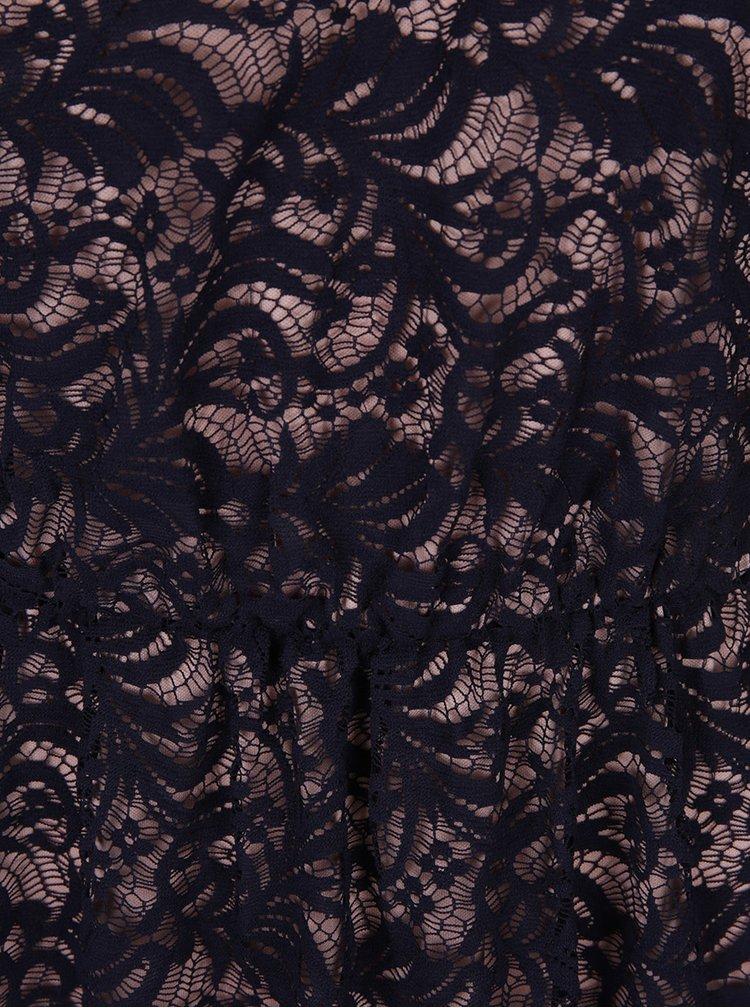 Rochie neagră cu șnur decorativ și dantelă - Miss Selfridge Petites