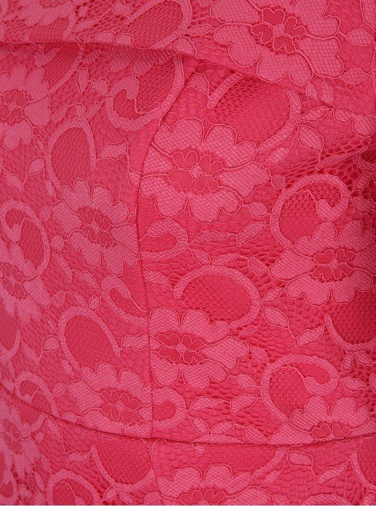 Rochie midi roz bodycon din dantelă Dorothy Perkins