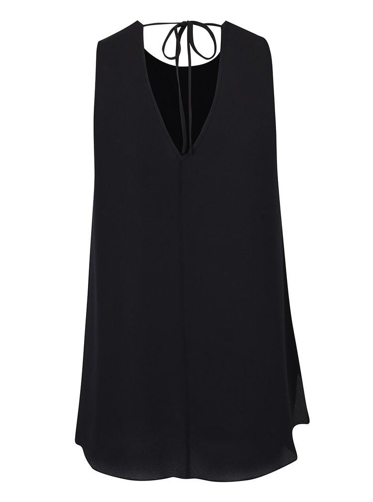 Bluza neagra vaporoasa fara maneci Dorothy Perkins Curve