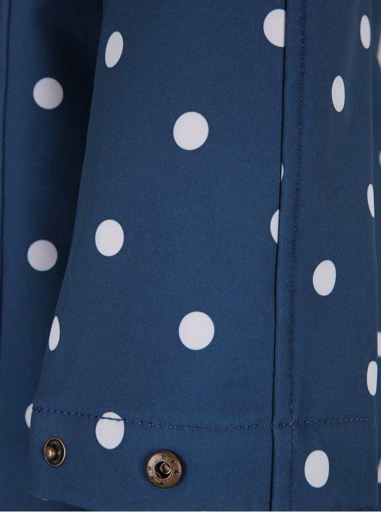 Jacheta lungă impermeabilă albastră cu buline Blutsgeschwister