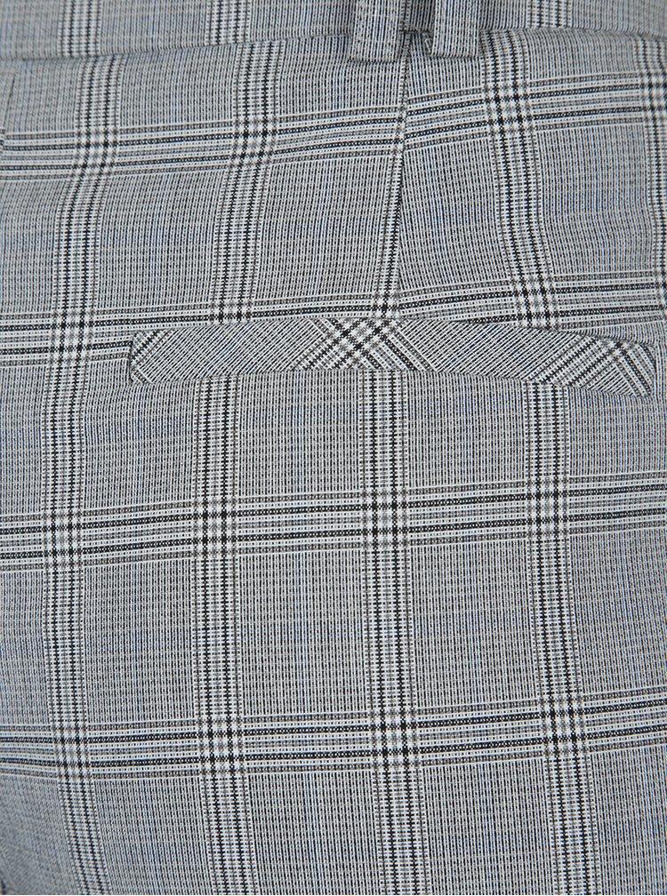 Šedé kostkované zkrácené kalhoty Dorothy Perkins