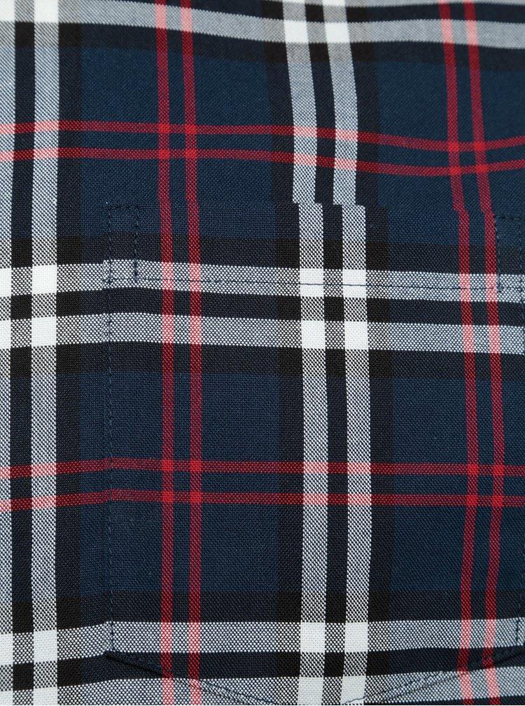 Tmavě modrá kostkovaná košile Burton Menswear London