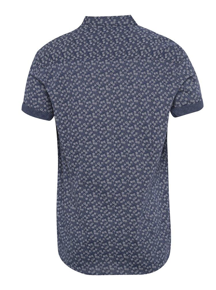 Tmavě modrá vzorovaná košile s krátkým rukávem Burton Menswear London