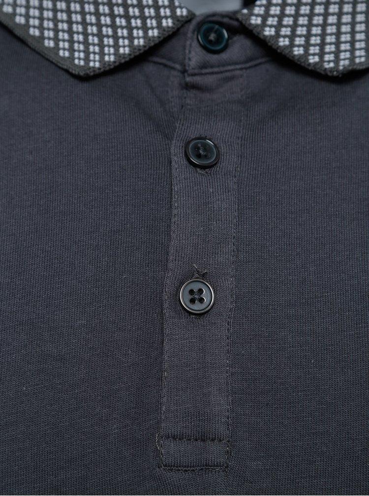 Tricou polo gri Burton Menswear London