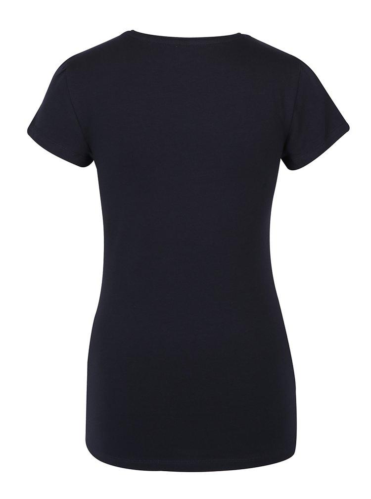 Tmavě modré tričko s krátkým rukávem ONLY Live Love