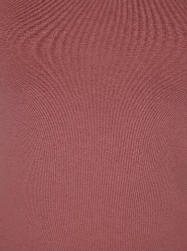 Starorůžové tričko s krátkým rukávem ONLY Live Love