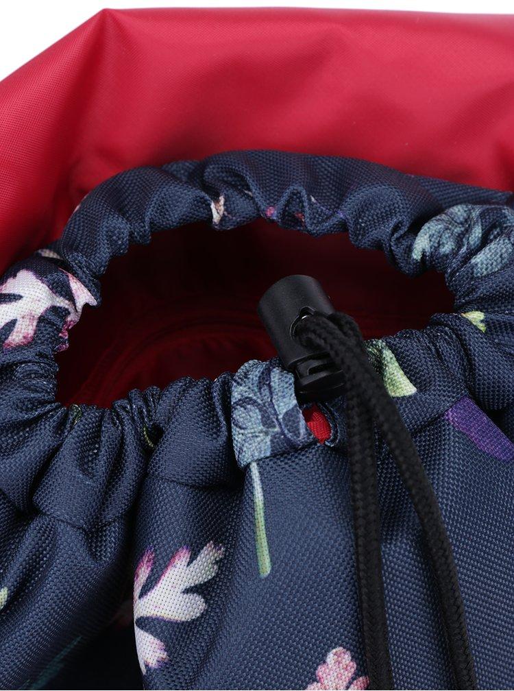 Tmavě modrý batoh se vzorem listů The Pack Society 10 l