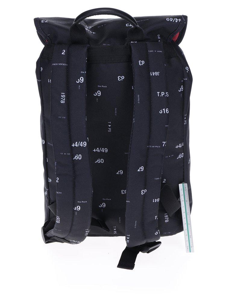 Černý batoh s čísly The Pack Society 10 l