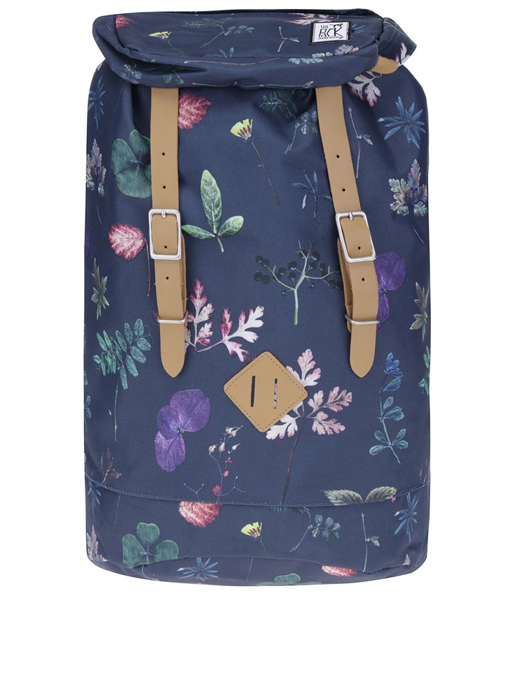 Tmavě modrý batoh se vzorem listů The Pack Society 23 l