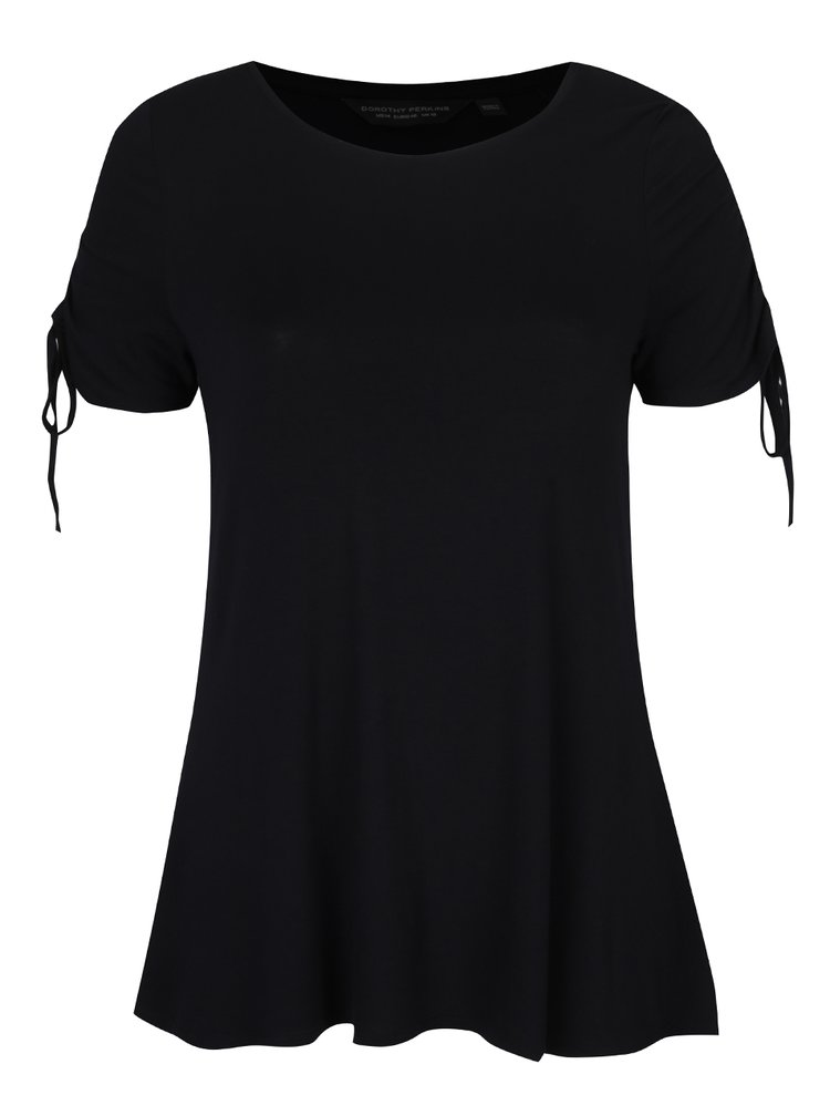 Tricou negru cu șiret Dorothy Perkins Curve