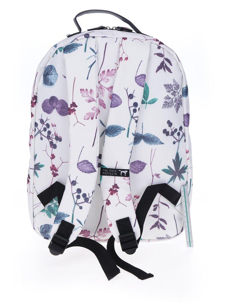 Rucsac crem cu print floral The Pack Society 18 l
