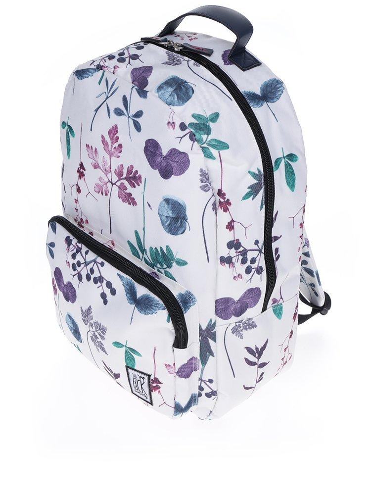 Krémový batoh se vzorem listů The Pack Society 18 l