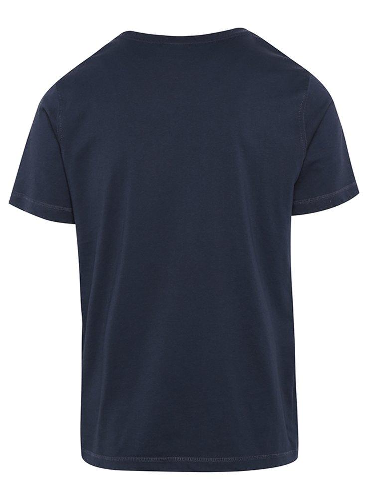 Tricou bleumarin cu print logo din bumbac - Sergio Tacchini Robin
