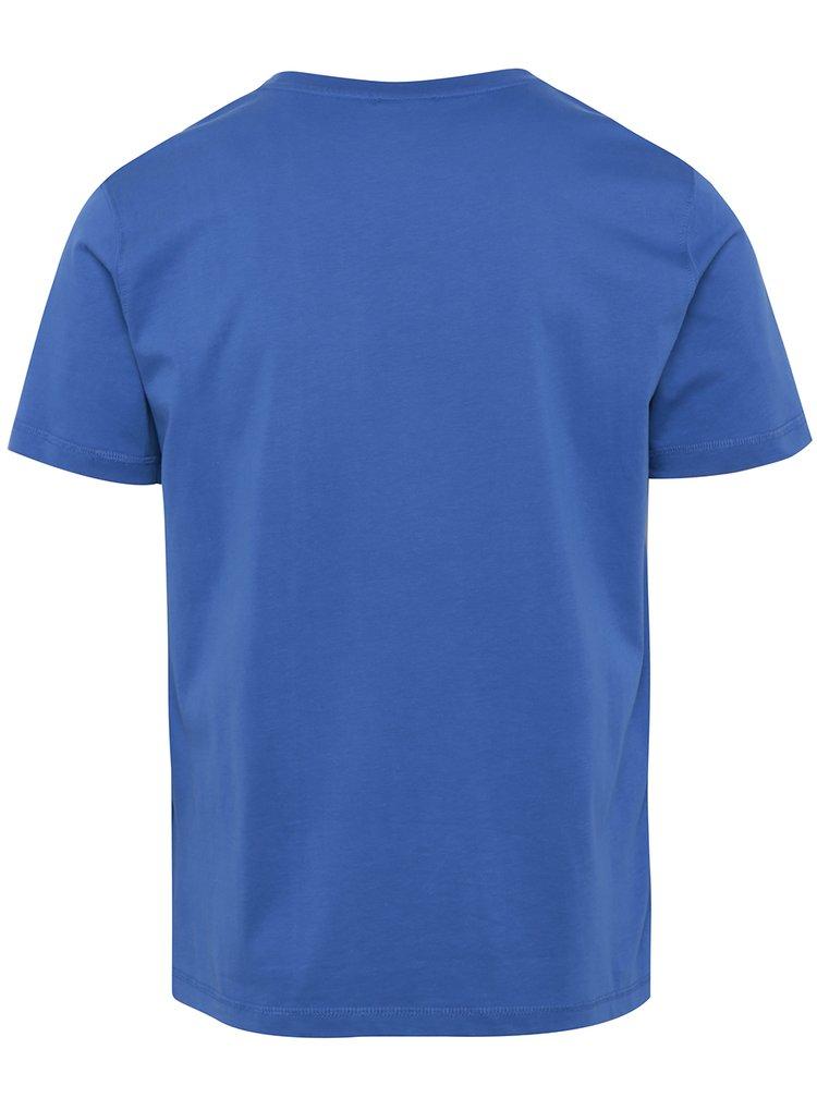 Modré pánské tričko s potiskem Sergio Tacchini Robin