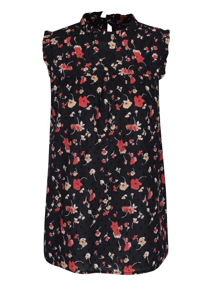 Bluza neagra cu model floral Dorothy Perkins