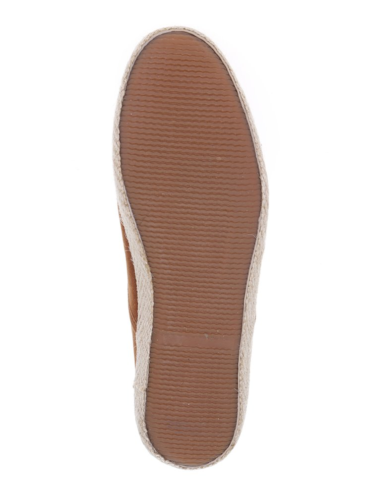 Espadrile maro din material textil - Burton Menswear London