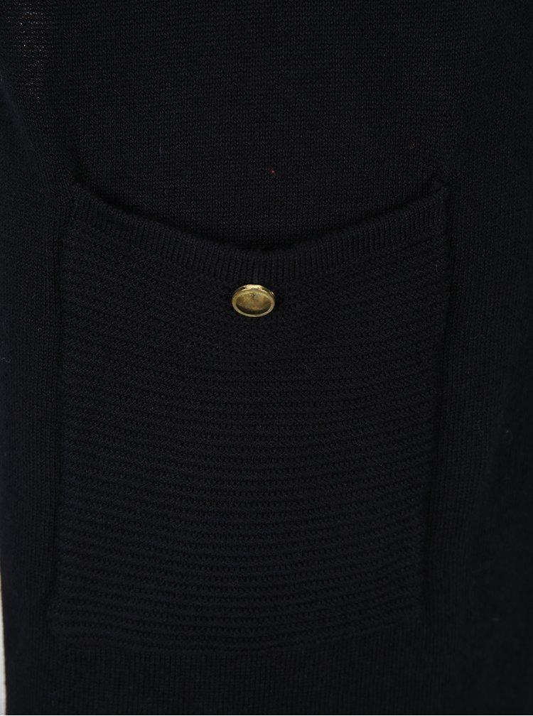 Černý dlouhý kadrigan s kapsami Dorothy Perkins