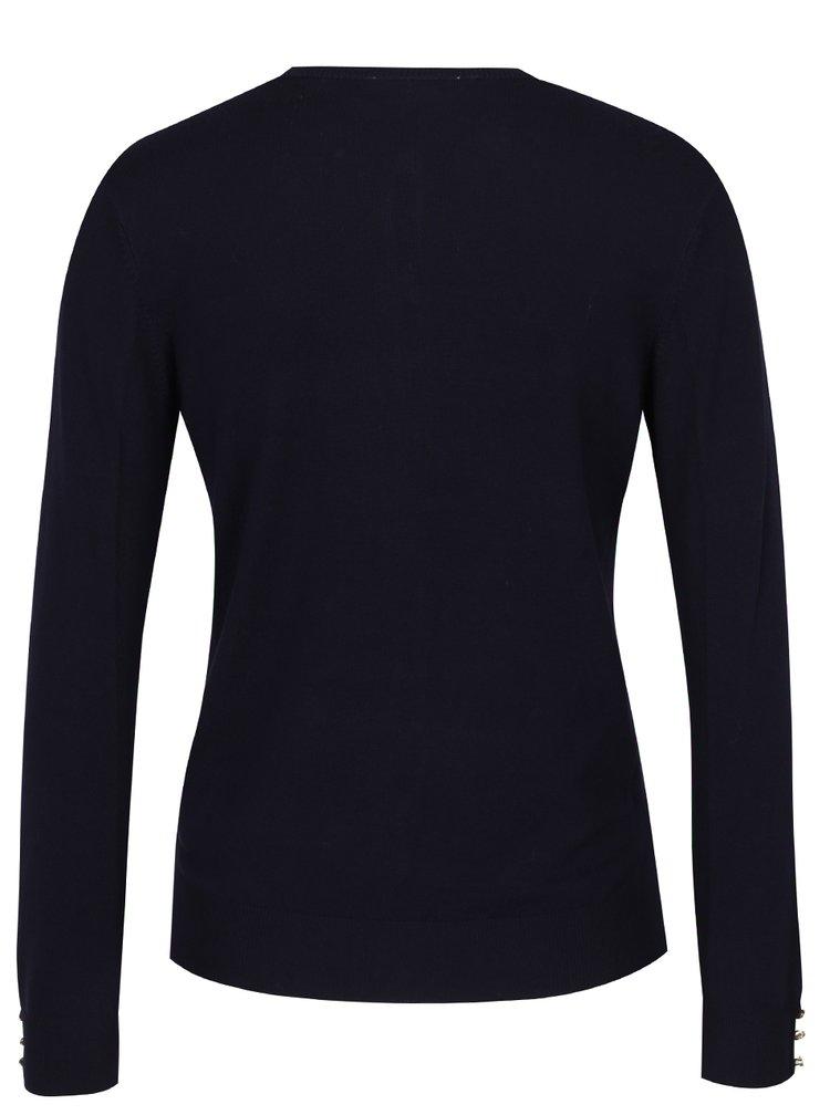Tmavě modrý svetr s knoflíky Dorothy Perkins Petite