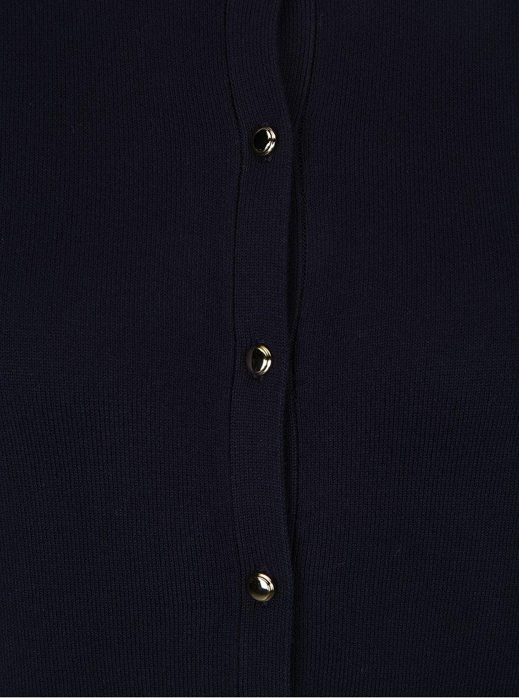 Cardigan negru din jerseu cu nasturi aurii Dorothy Perkins