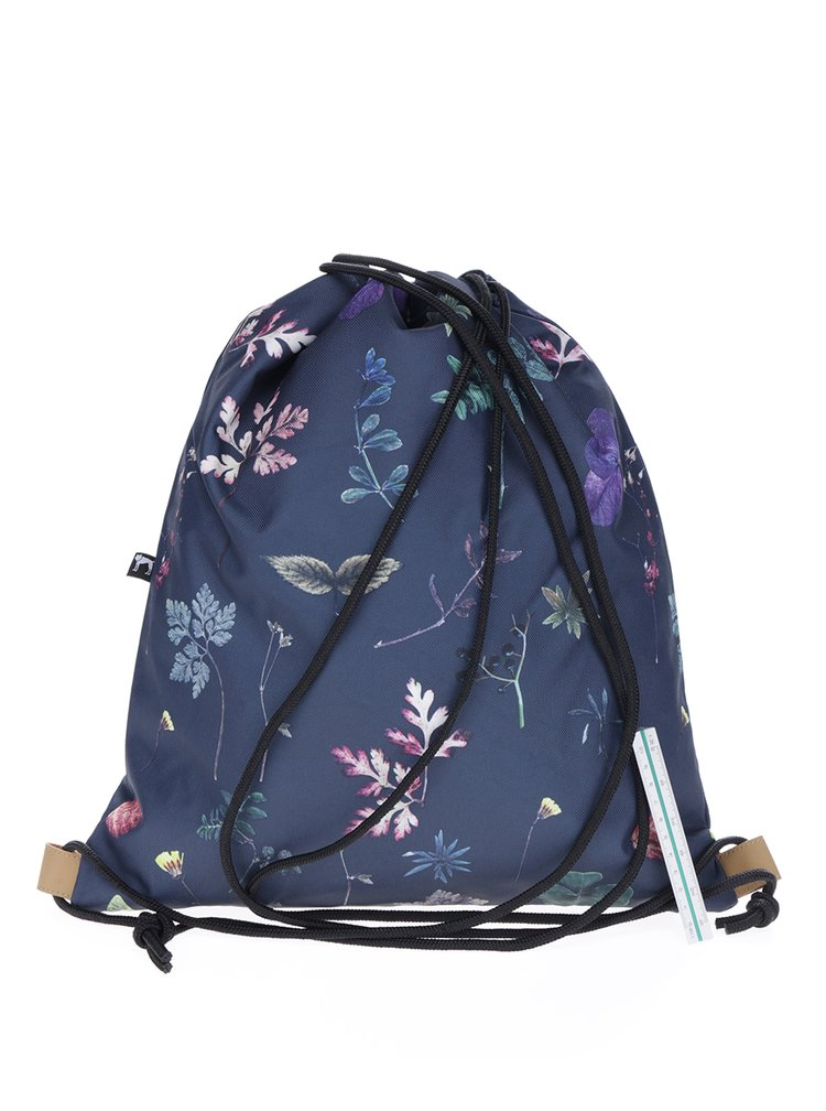 Rucsac bleumarin cu print floral The Pack Society