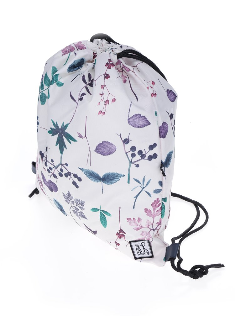 Rucsac crem cu print floral The Pack Society