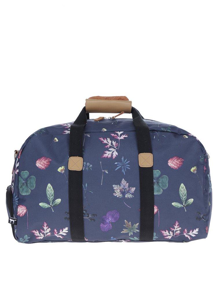 Tmavě modrá taška se vzorem listů The Pack Society 27 l