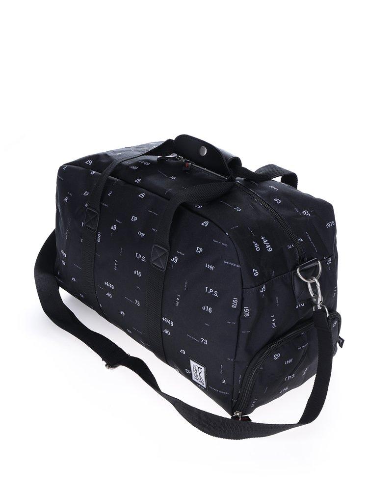 Černá taška s čísly The Pack Society 27 l