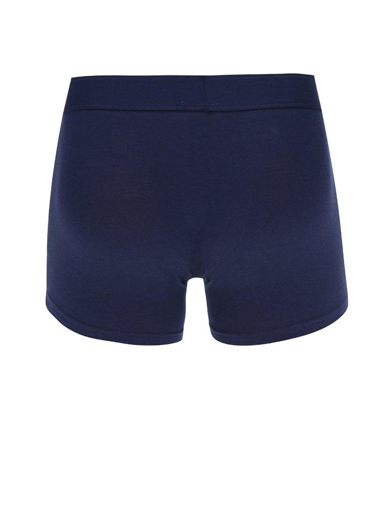 Set de 3 boxeri cu imprimeu dungi albastru & rosu -  Burton Menswear London