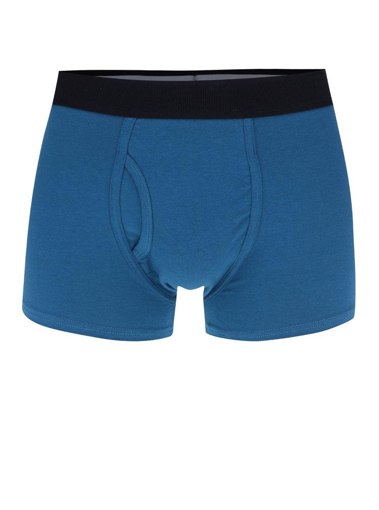 Súprava troch boxeriek v čiernej, bielej a modrej farbe Burton Menswear London