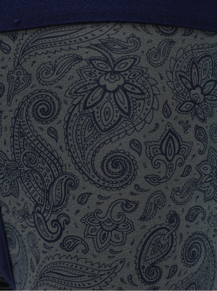 Set de 3 boxeri imprimeu paisley gri & albastru - Burton Menswear London