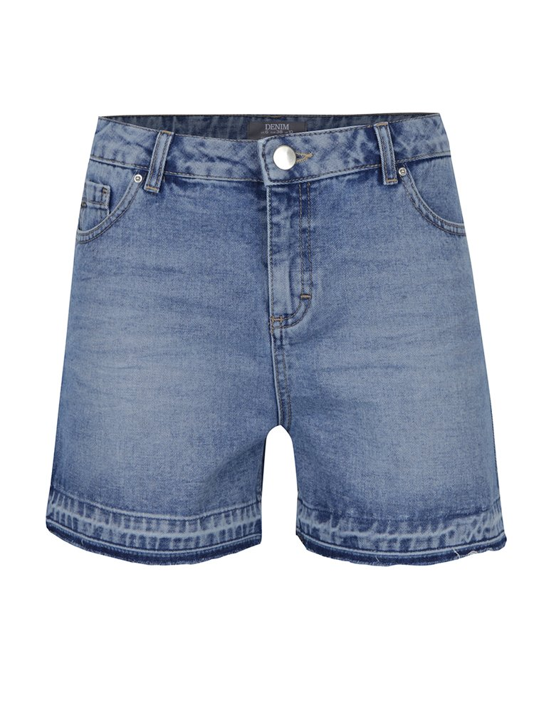Pantaloni scurti din denim cu talie inalta  Dorothy Perkins