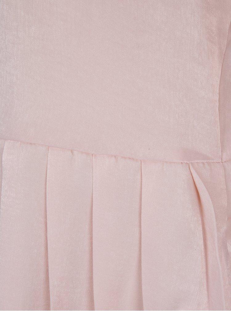 Světle růžová halenka s volánem VILA Malia