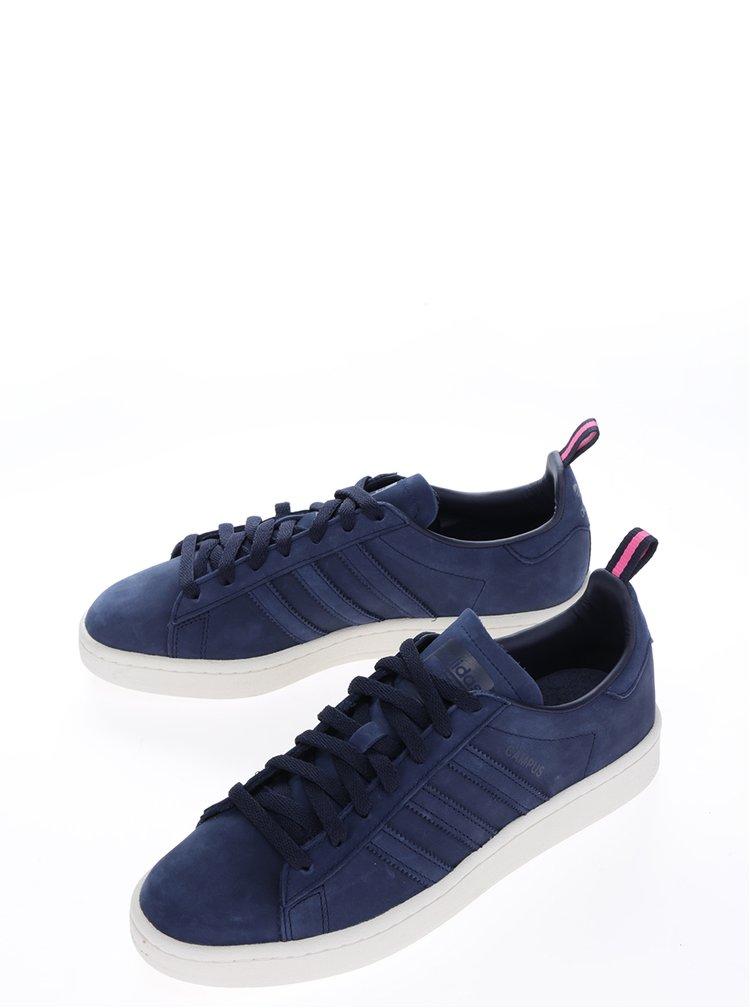Tmavě modré pánské kožené tenisky adidas Originals Campus
