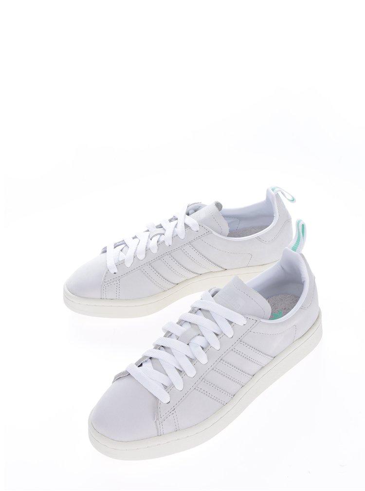 Šedé dámské kožené tenisky adidas Originals Campus