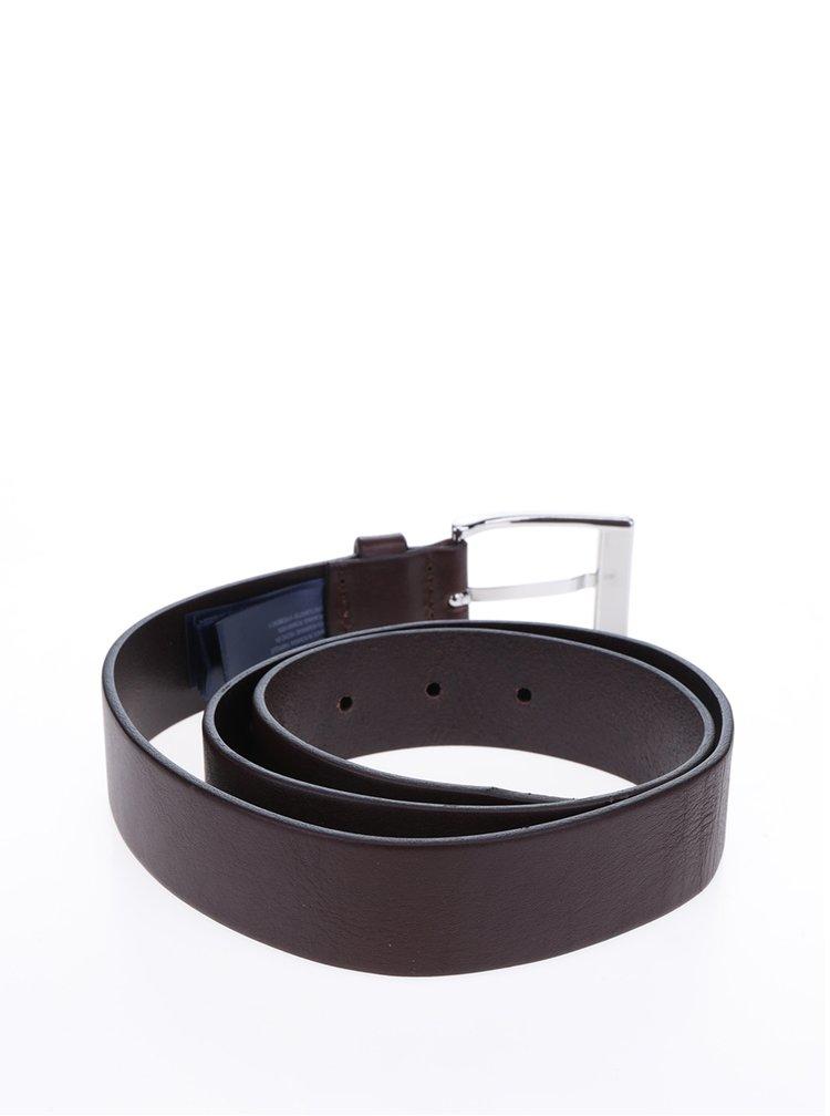 Tmavě hnědý pánský kožený pásek Tommy Hilfiger New Aly